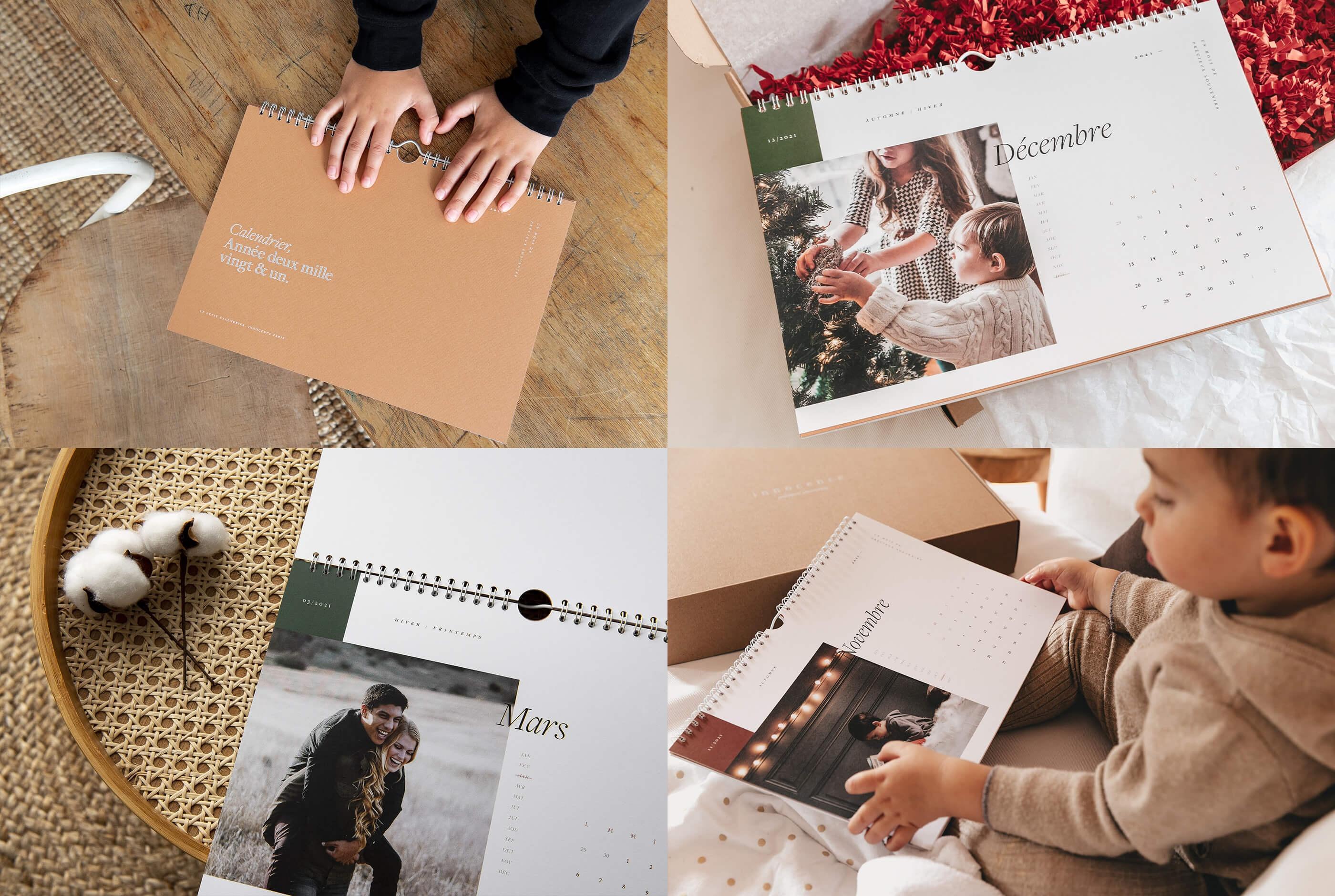 Le calendrier - Calendrier personnalisé - Calendrier photo - Innocence Paris
